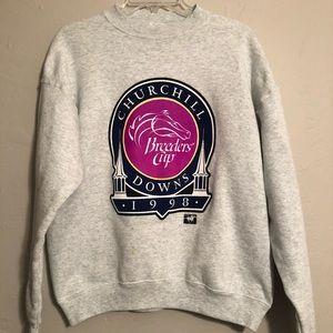 Vtg 1998 Churchill Downs Breeders Cup Sweatshirt